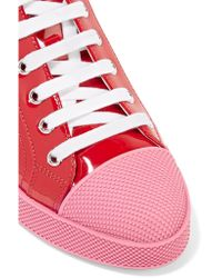 Prada - Red Patent-leather Sneakers - Lyst