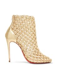 Christian Louboutin | Andaloulou 100 Metallic Leather Ankle Boots | Lyst