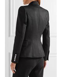 Balmain - Black Double-breasted Wool Blazer - Lyst
