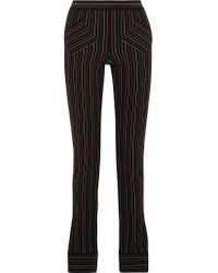 J.W.Anderson | Black Striped Cotton-crepe Skinny Pants | Lyst