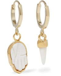 Isabel Marant | Metallic Gold-tone Bone Earrings | Lyst