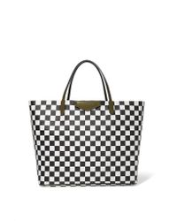 Givenchy | Black Antigona Shopping Large Checked Textured-leather Tote | Lyst