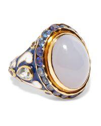 Percossi Papi - Metallic Gold-tone Multi-stone Ring - Lyst