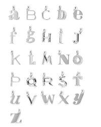 Monica Vinader - Metallic A-z Alphabet Letter Sterling Silver Pendants - Lyst