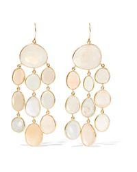 Pippa Small - Blue 18-karat Gold Moonstone Earrings - Lyst