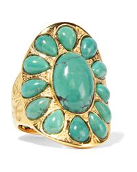 Aurelie Bidermann - Metallic Gold-plated Turquoise Ring - Lyst