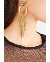 Erickson Beamon - Metallic Smoking Jacket Gold-plated Swarovski Crystal Earrings - Lyst