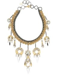 Erickson Beamon | Metallic Milky Way Gold-plated, Pewter And Crystal Necklace | Lyst