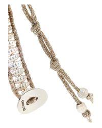Chan Luu - Metallic Silver Beaded Bracelet - Lyst