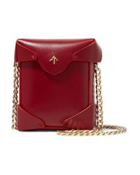 MANU Atelier | Red Pristine Micro Leather Shoulder Bag | Lyst