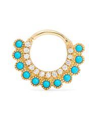 Maria Tash | Metallic 18-karat Gold Multi-stone Earring | Lyst