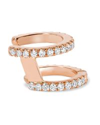 Maria Tash - Multicolor 18-karat Rose Gold Diamond Ear Cuff - Lyst