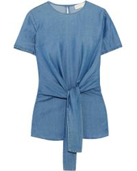 MICHAEL Michael Kors | Blue Chambray Top | Lyst