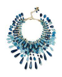 Rosantica - Blue Antica Gold-tone Multi-stone Necklace - Lyst