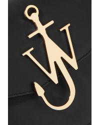 J.W.Anderson - Black Logo Leather Shoulder Bag - Lyst