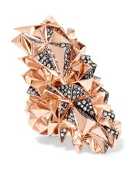 Diane Kordas | Multicolor Eclipse 18-karat Rose Gold Diamond Ring | Lyst