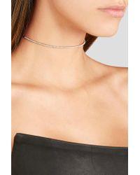 Diane Kordas | Metallic Bar 18-karat Rose Gold Diamond Choker | Lyst