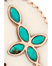 Pascale Monvoisin | Blue Bowie 9-karat Rose Gold, Turquoise And Resin Ring | Lyst