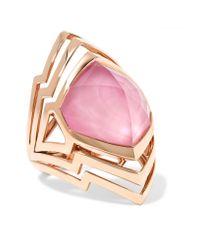 Stephen Webster | Pink Lady Stardust 18-karat Rose Gold, Quartz And Opal Ring | Lyst