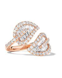 Anita Ko | Metallic Leaf 18-karat Rose Gold Diamond Ring | Lyst