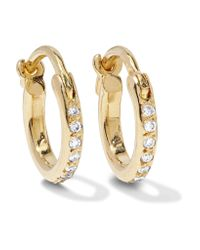 Ileana Makri | Metallic 18-karat Gold Diamond Hoop Earrings | Lyst