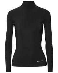 Balenciaga - Black Stretch-jersey Turtleneck Sweater - Lyst