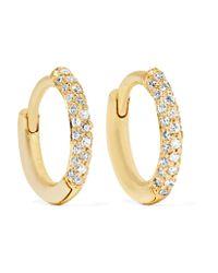 Jennifer Meyer | Metallic Huggie 18-karat Gold Diamond Hoop Earrings | Lyst