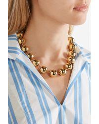 Balenciaga - Metallic Gold-tone Choker - Lyst