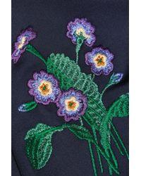 Stella McCartney | Blue Embroidered Neoprene Swimsuit | Lyst