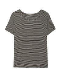 Eberjey | Black Toni Striped Stretch-jersey Pajama Top | Lyst