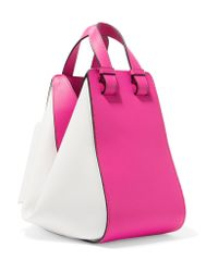Loewe - Pink Hammock Small Two-tone Leather Shoulder Bag - Lyst
