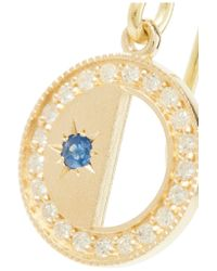 Andrea Fohrman | Metallic Crescent Moon 18-karat Gold, Sapphire And Diamond Earrings | Lyst