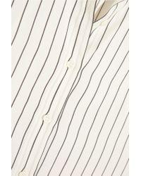 Brunello Cucinelli - Multicolor Ruffled Striped Silk Shirt - Lyst