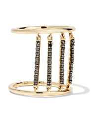 Alison Lou | Metallic + Hasbro Jail 14-karat Gold Diamond Ring | Lyst