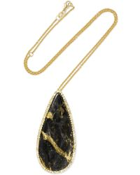 Kimberly Mcdonald | Metallic 18-karat Gold, Apache Gold And Diamond Necklace | Lyst