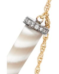 Kimberly Mcdonald | Metallic 18-karat Gold, Chalcedony And Diamond Necklace | Lyst