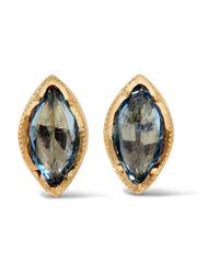 Brooke Gregson | Metallic 18-karat Gold Sapphire Earrings | Lyst