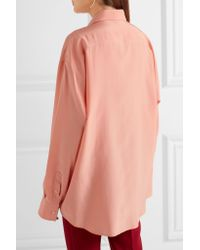 Jil Sander - Multicolor Oversized Silk Crepe De Chine Shirt - Lyst