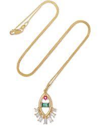 Ileana Makri | Metallic Teared Eye 18-karat Gold Multi-stone Necklace | Lyst