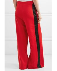 Golden Goose Deluxe Brand - Red Sophie Satin-trimmed Cotton-blend Jersey Track Pants - Lyst