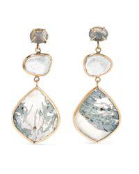 Melissa Joy Manning - Metallic 14-karat Gold And Sterling Silver Multi-stone Earrings - Lyst