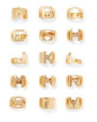Chloé | Metallic Alphabet Gold-tone Ring | Lyst