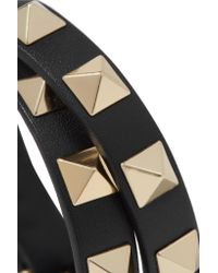 Valentino - Black Rockstud Leather Choker - Lyst
