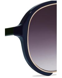 Sacai - Multicolor Linda Farrow Aviator-style Acetate And Metal Sunglasses - Lyst