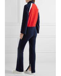 Off-White c/o Virgil Abloh | Blue Color-block Cotton-terry Jumpsuit | Lyst