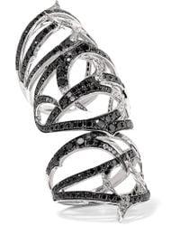 Stephen Webster | Metallic Thorn 18-karat White Gold Diamond Ring | Lyst