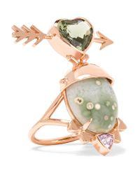 Daniela Villegas | Metallic Te Quiero 18-karat Gold Multi-stone Ring | Lyst