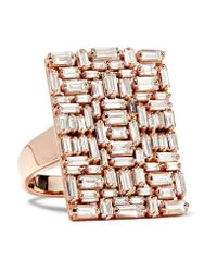 Suzanne Kalan | Multicolor 18-karat Rose Gold Diamond Ring | Lyst