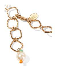 Erickson Beamon - Metallic Safari Gold-plated, Swarovski Crystal And Bead Necklace - Lyst