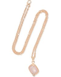 Pomellato - Metallic Ritratto 18-karat Rose Gold, Quartz And Diamond Necklace - Lyst